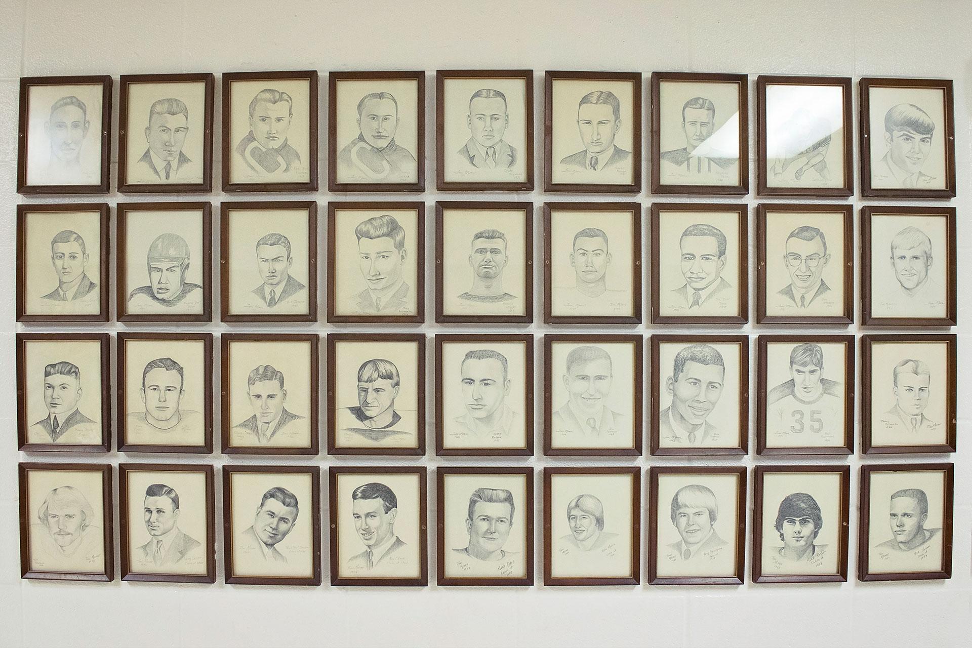 Drawings in frames
