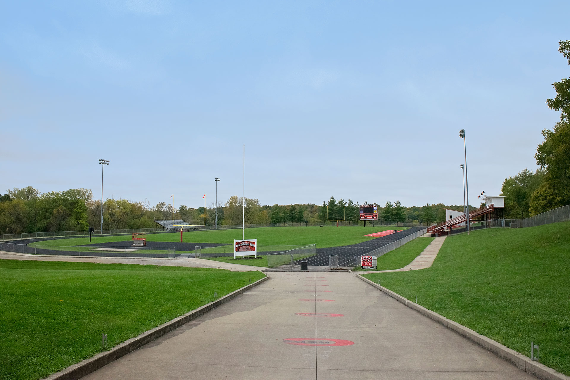 View of the Football field